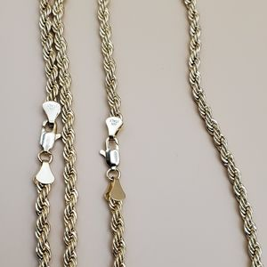 Rope chain 14k stamped necklaces